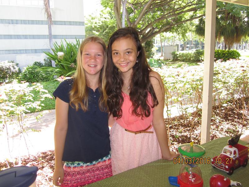 Kaitlyn & Rebekah, the little helpers