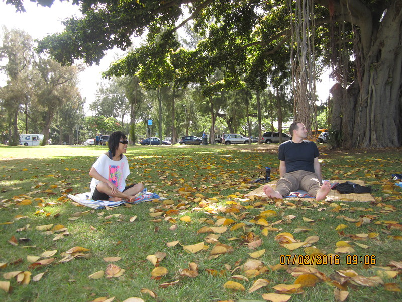 Saturday Qi Gong with Chris and his son Christian