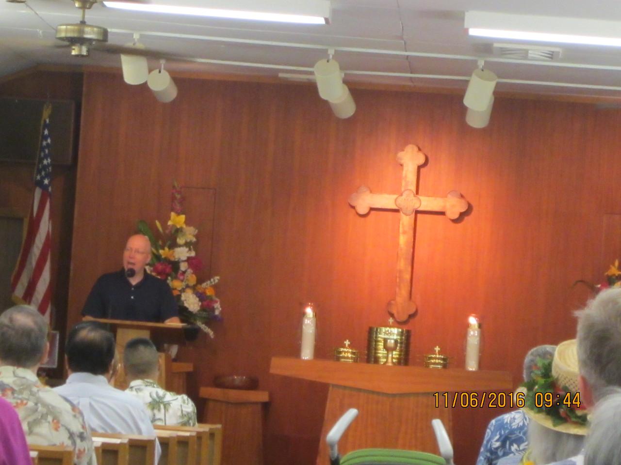 "Ch. Marsi giving sermon""  A Time for Choosing"""