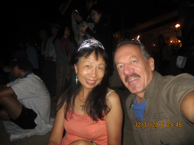 with BenBen for another NY's Eve at Waikiki Beach!
