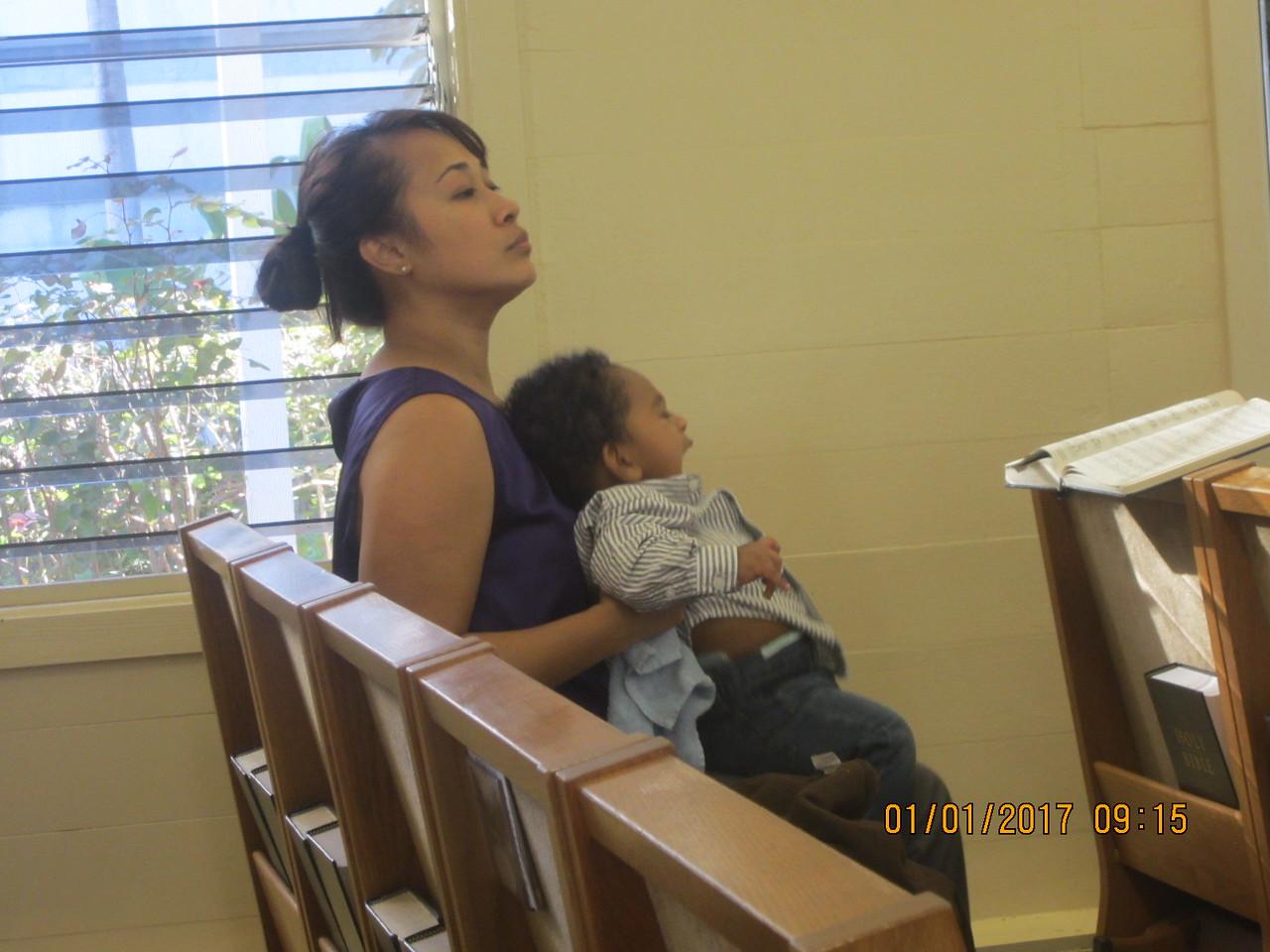 Norlin with son Cameron