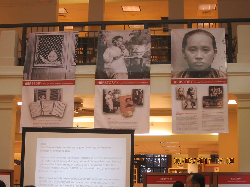HERSTORY Exhibition -  The Legal History of Chinese American Women