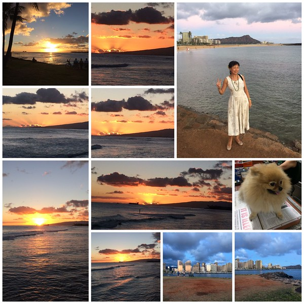 081717 with BenBen at Magic Island for the Sunset