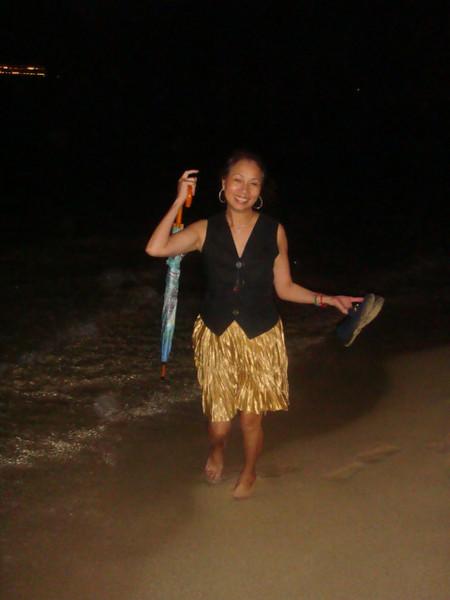 Taking my ritual walk on the beach..