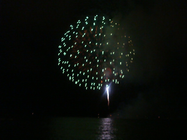 The firework and the ocean..