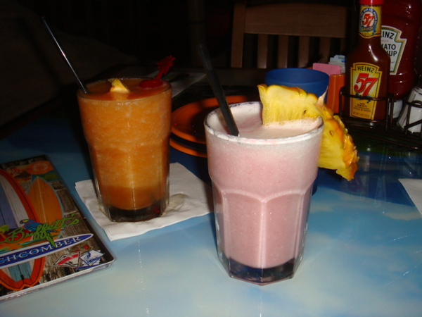 Mango rum runner and wild berry margarita
