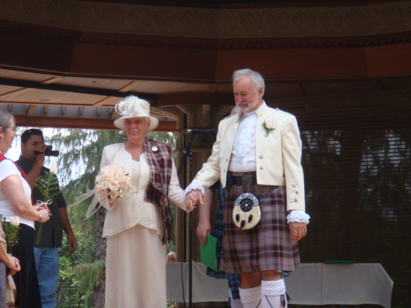 Mr. and Mrs.  Ronald McPherson...  See the Celt on her shoulder... Interesting!