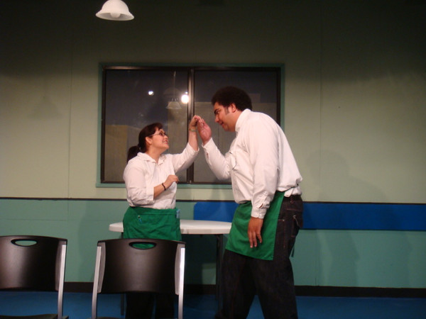 "act from ""Mamet's Spicy American Buffalo Wings... about long finger nails... it was funny!   Alissa and Jordan"