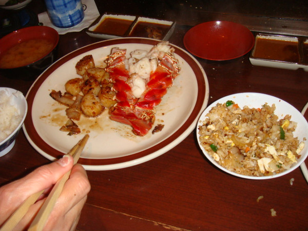 Shogun..expensive but delicious...  got $22.00 off from coupon book.