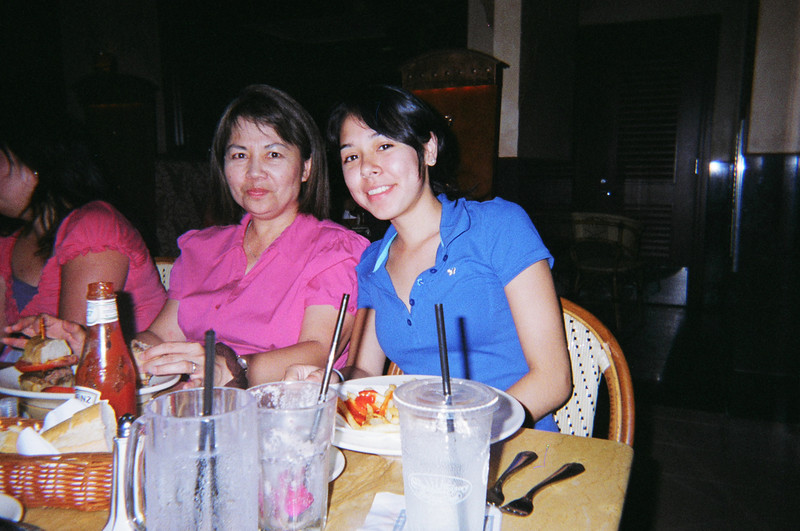 This is Karen's farewell party at Cheesecake Factory. Gina in pink and Karen's dau Kimberly.  This was after Howard's birthday party.