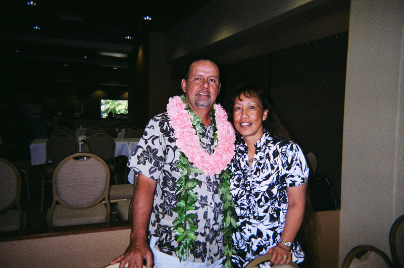 7/19/09 Howard and Roselani.. celebrating his 50th birthday.