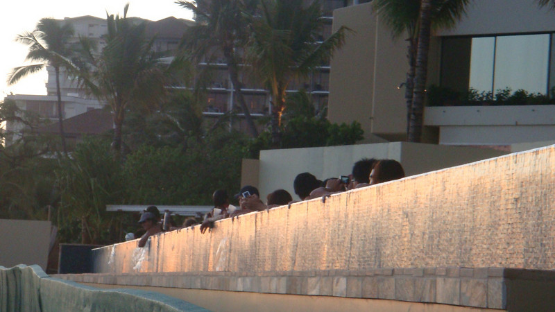 this is a neat place for people to view the sunset.. in the pool...