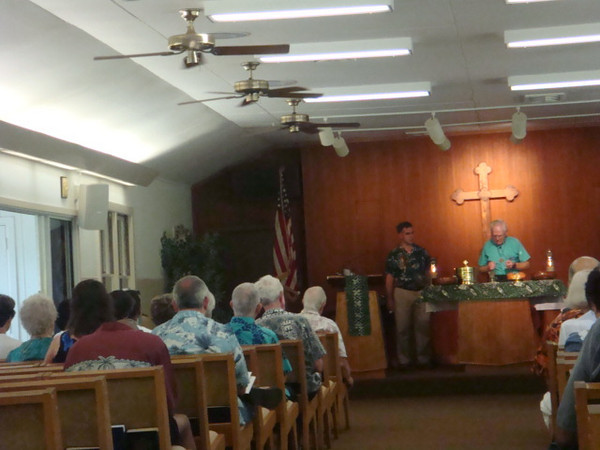 Chaplain B brought back same old routine of our monthly communion service.