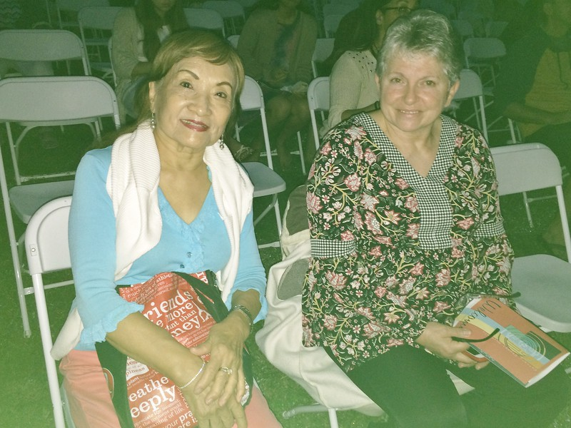 Linda with Diana from Kaneohe at Sunrise Service