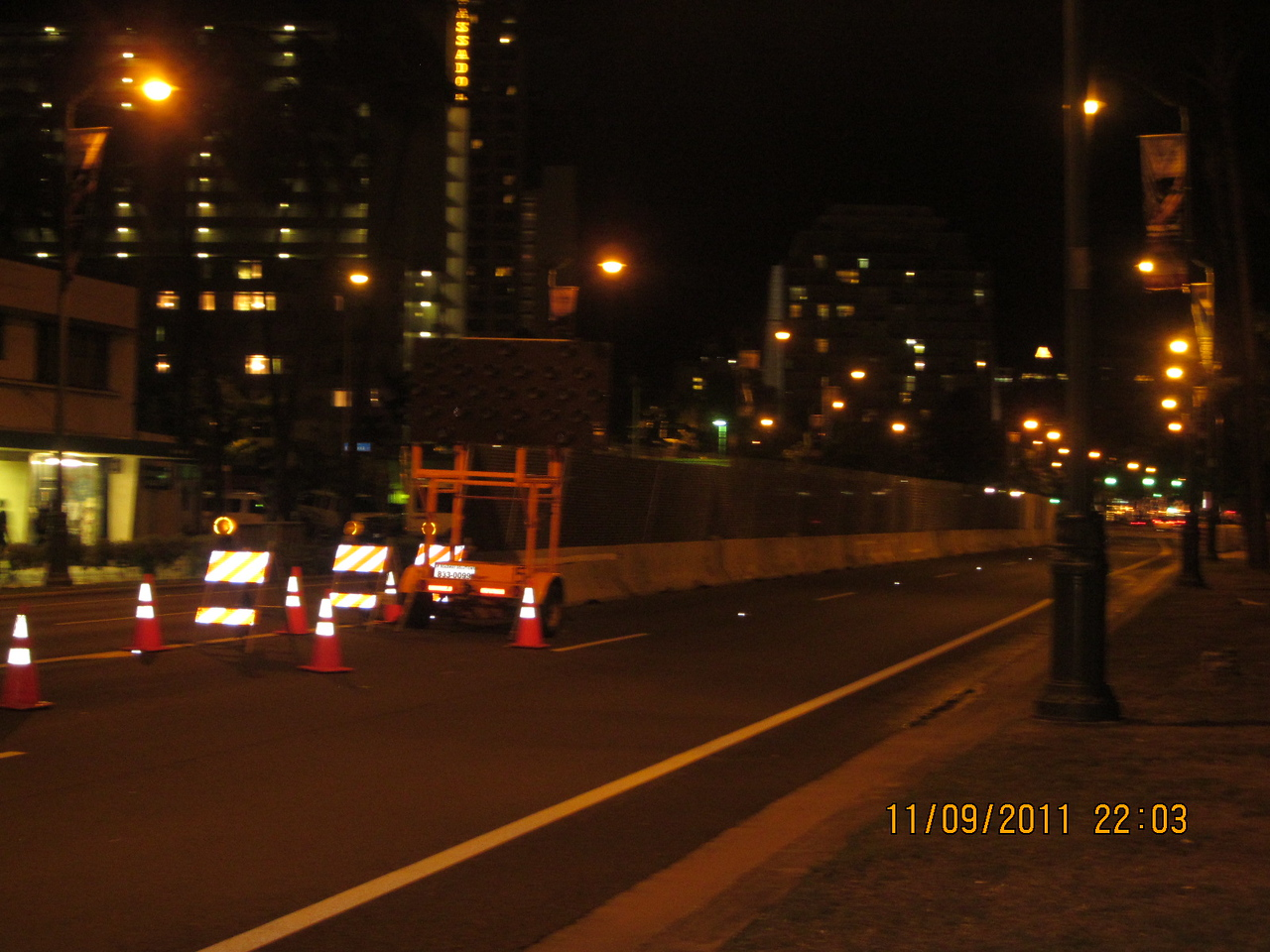 all the road blocks for APEC.. the wall..