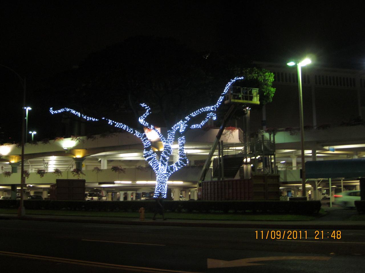Ala Moana Mall.. starting to decorate for holiday season