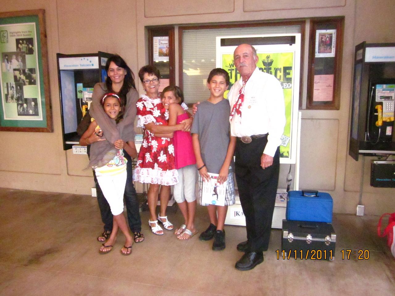 The Quam family.. Jerry & Barbara with daughter Heidi and 3 grandchildren. Myles almost 13