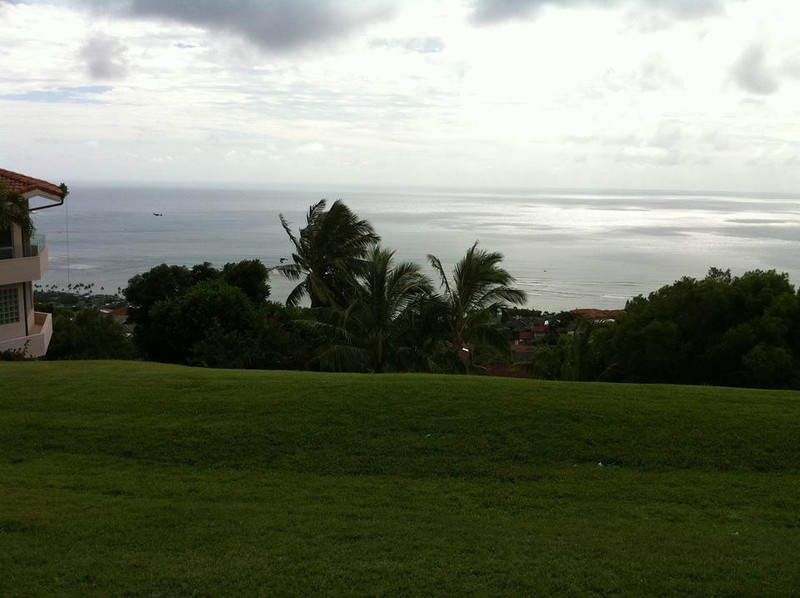 "what a beautiful view from lanai of ""The Ridge club"""