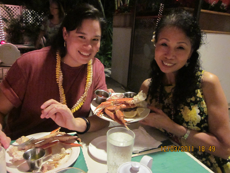 me and #1 and our crab legs..