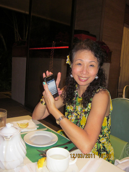 me and my iPhone.. can't go anywhere without it.. haha!