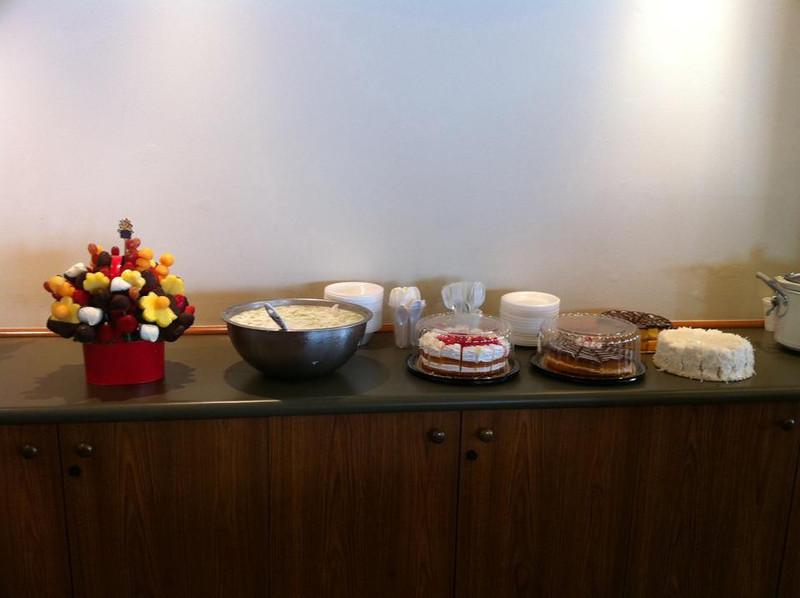 dessert area..