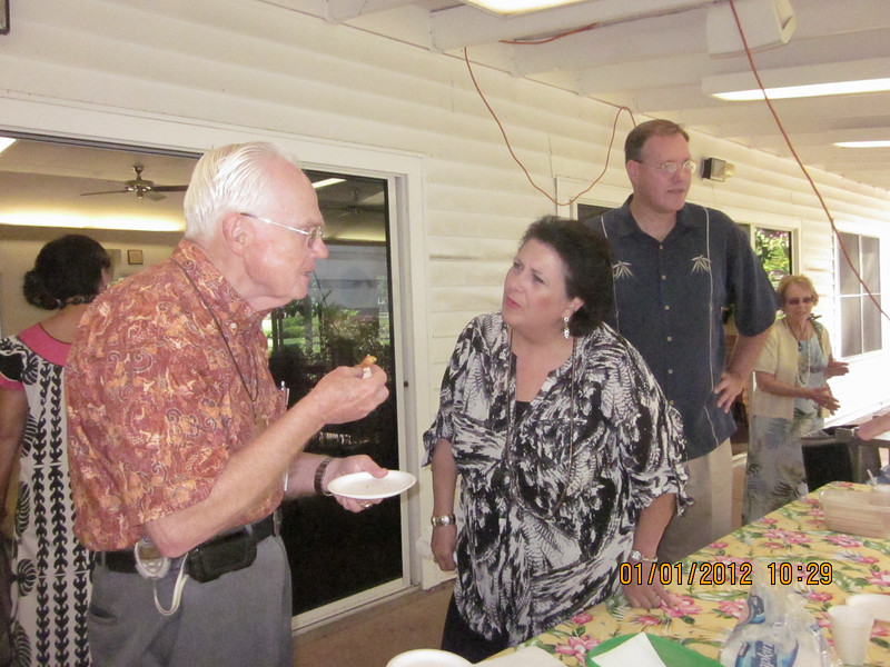 Ret Chaplain Bezanson chit chatted with Katherine and her hubby Ch Basal?