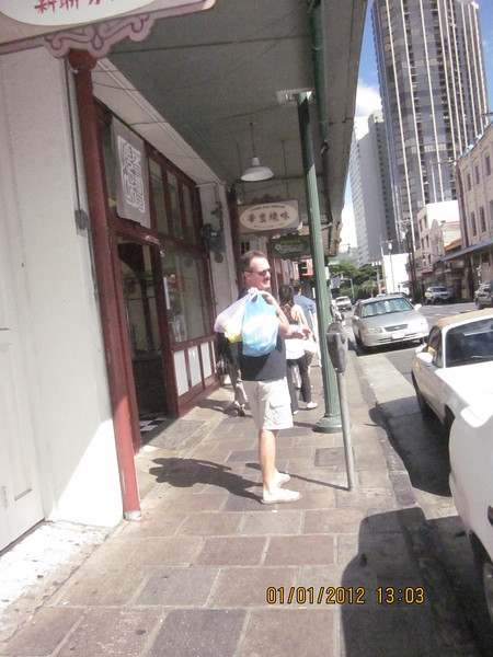 shopping in Chinatown.. I saw many people I know from credit union..