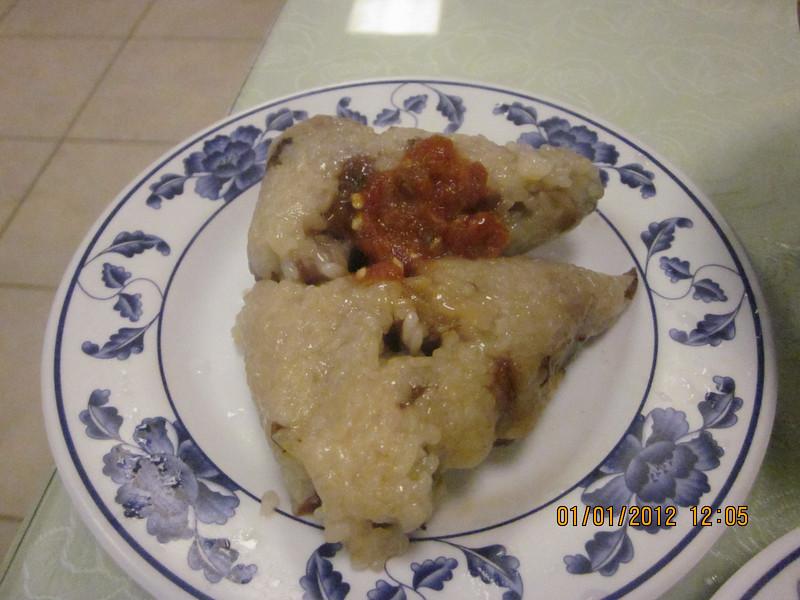mochi dumpling.. BenBen likes the salty kind..