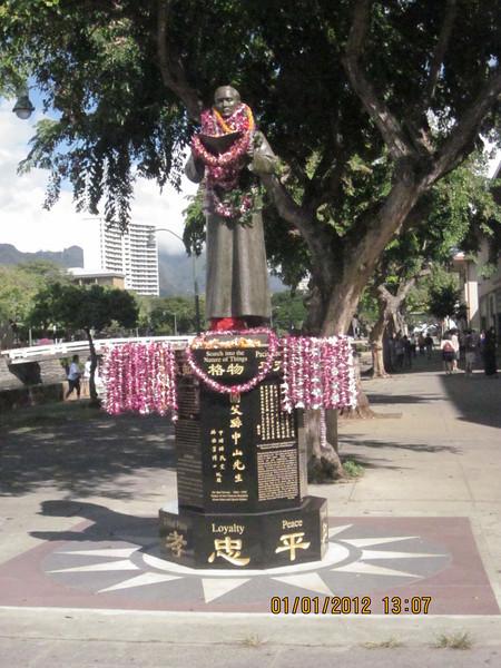 Dr. Sun Yat Sen statue..