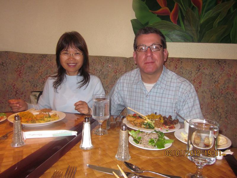 Chiung O & Brice at Kuhio Beach Grill