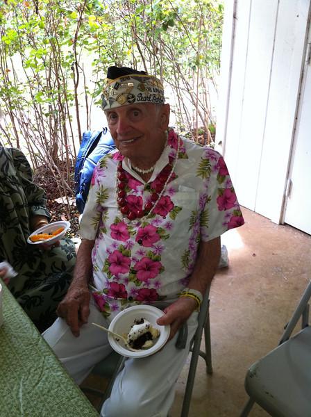 Pearl Harbor survivor  -Allen, comes to Hawaii 2x a year..