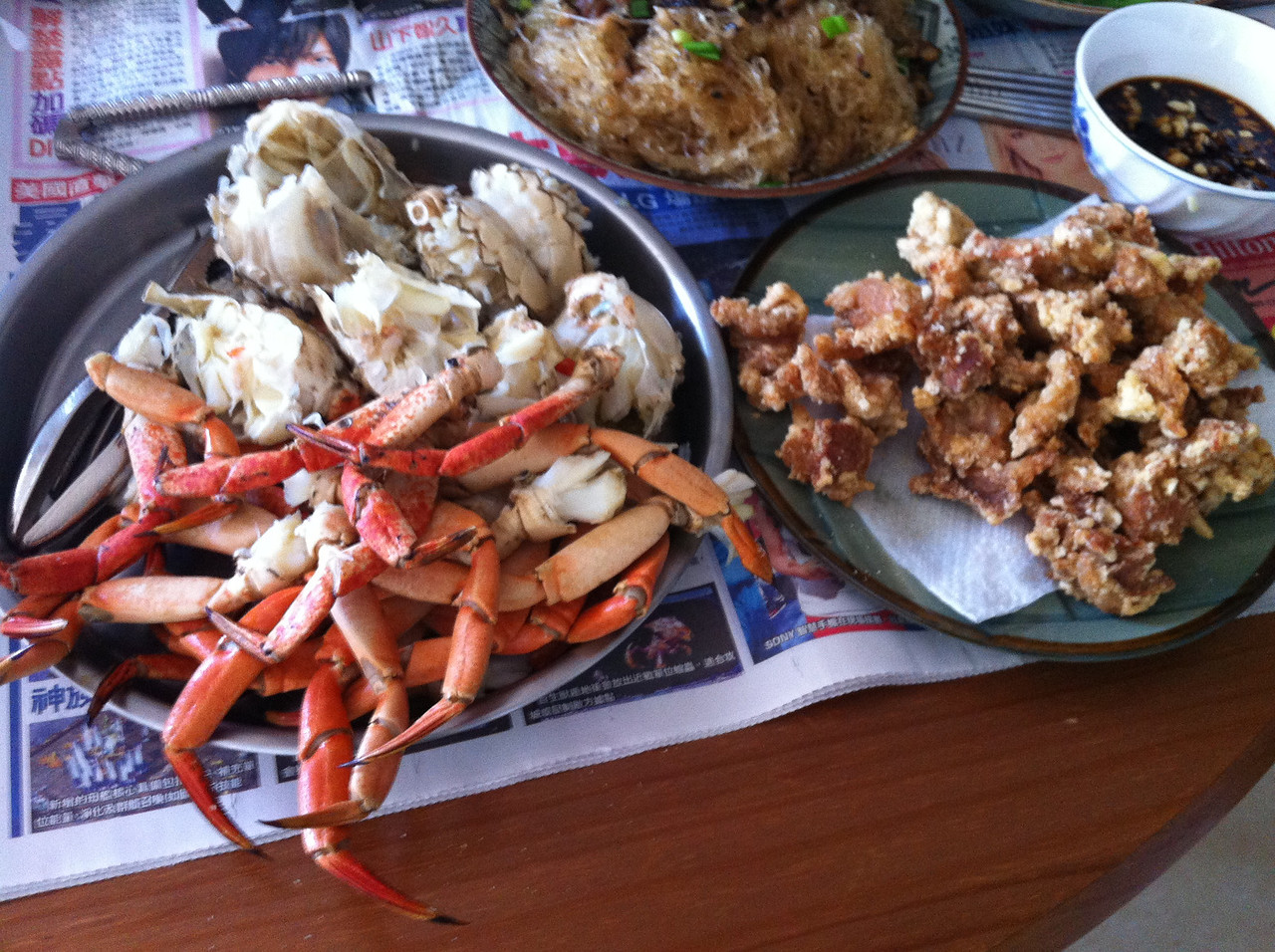 7/2/12, 2nd day in CA,  brunch at home, meals prepared by Dah Ger and Dah Sao..