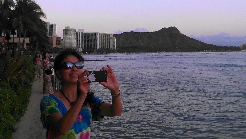 me and Diamond Head crater