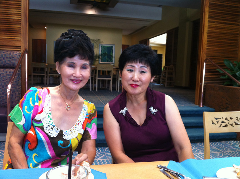 2 Korean beauties.. mommy Kim and Jann