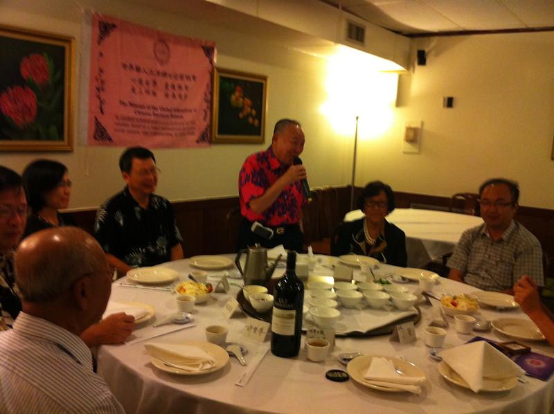 Dr. Tse  giving speech