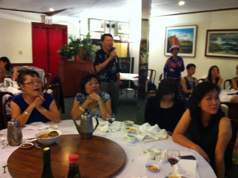 another shot of karaoke singing..