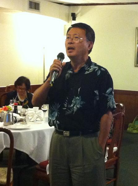 Director General- Mr. Chu.. everyone loves singing..