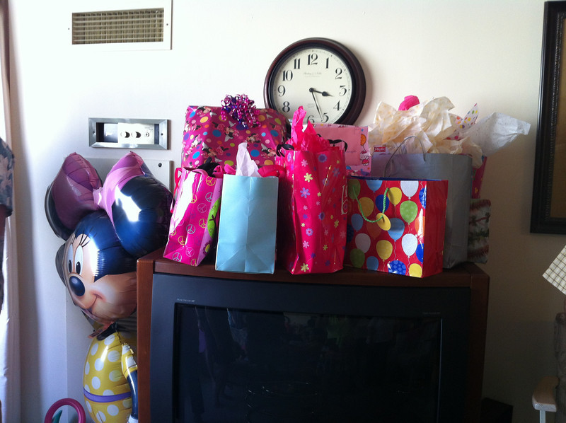 all the pink gifts...