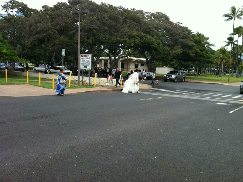 what a day to have wedding pics shot at Magic Island...