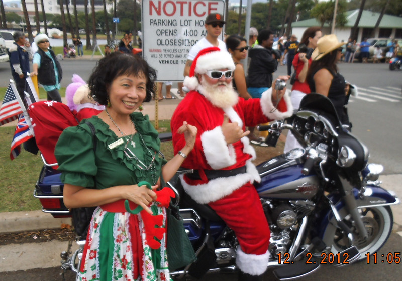 me and the Santa...