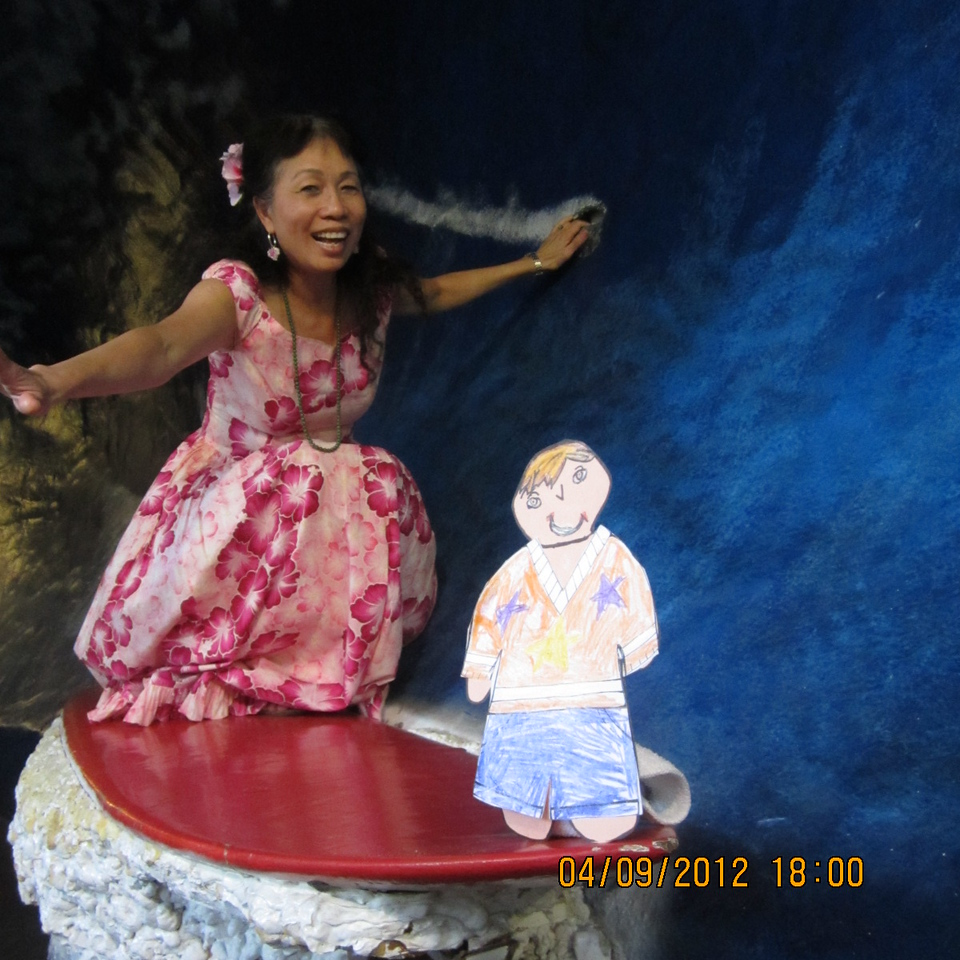 surfing with my muumuu on.. haha! Thanks to uncle BenBen playing my photographer!