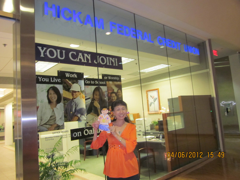 with aunt SJ at HFCU PR branch