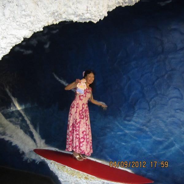 go surfing...