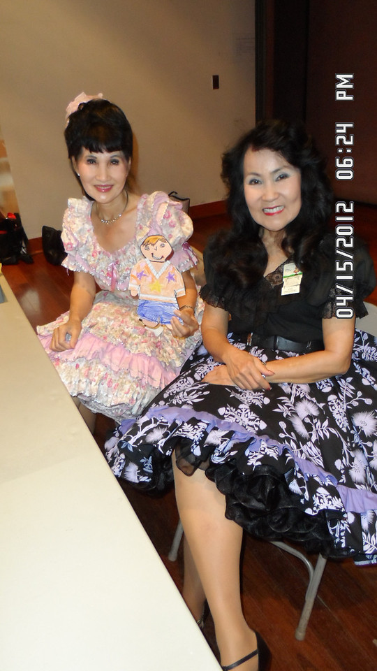 with mommy Kim and Beverly