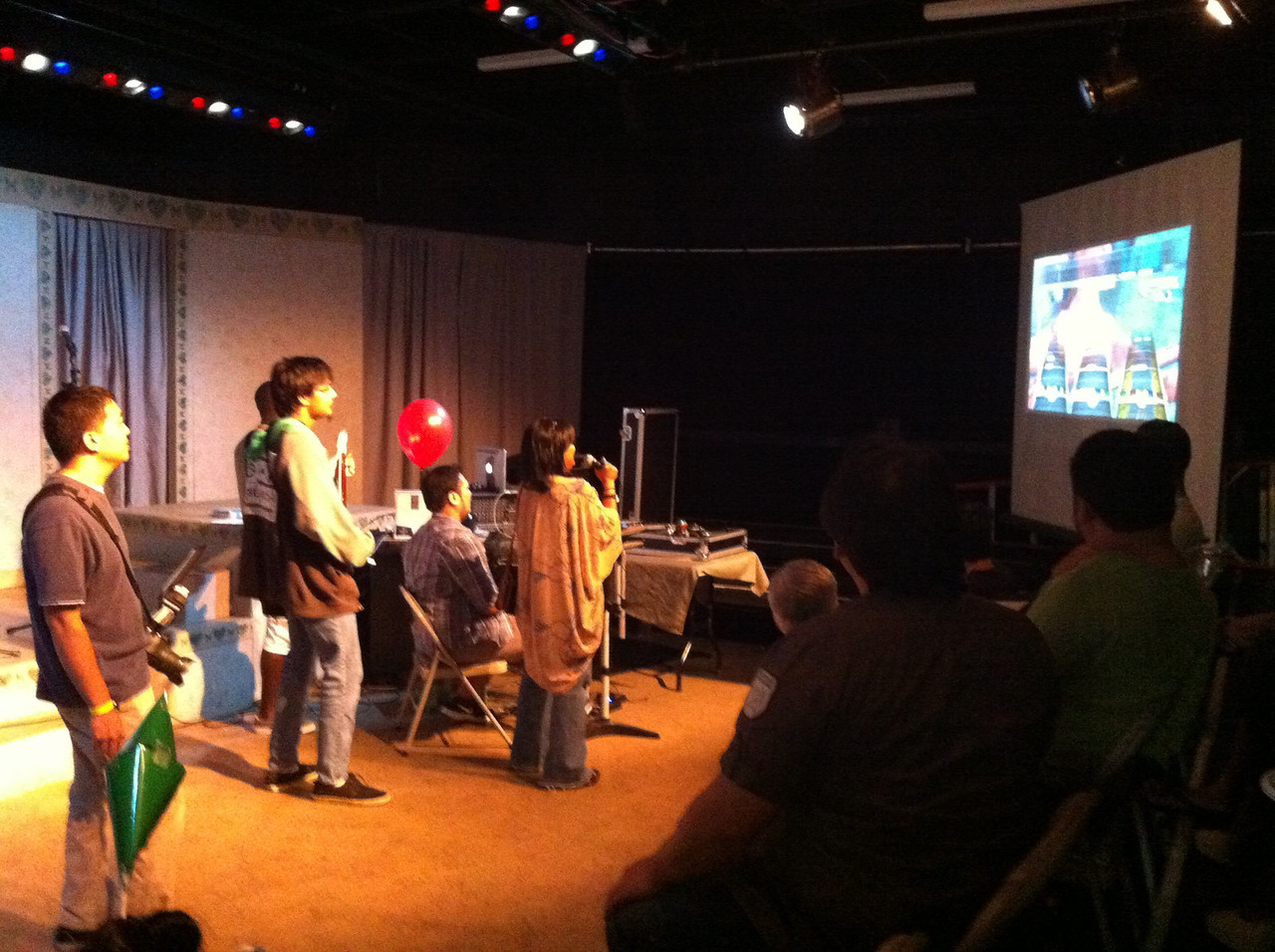 Gamers night at Improv night..