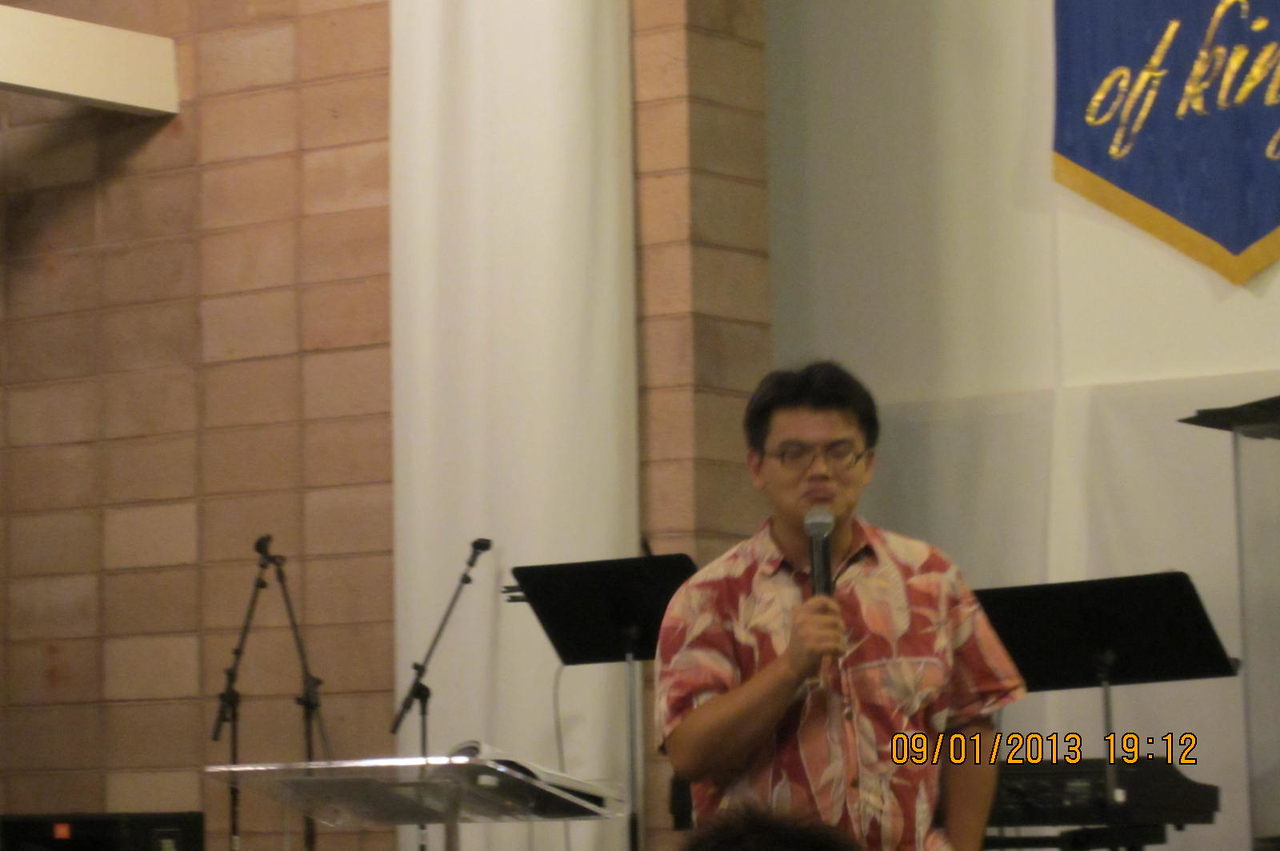 Will Chen giving sermon