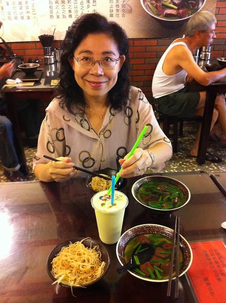 My pretty classmate: Hui Zhen, yummy lunch!