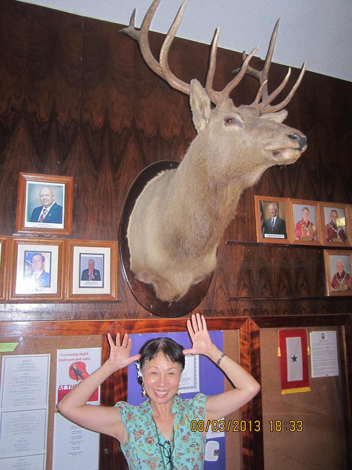 Dinner and dancing at Elks Club