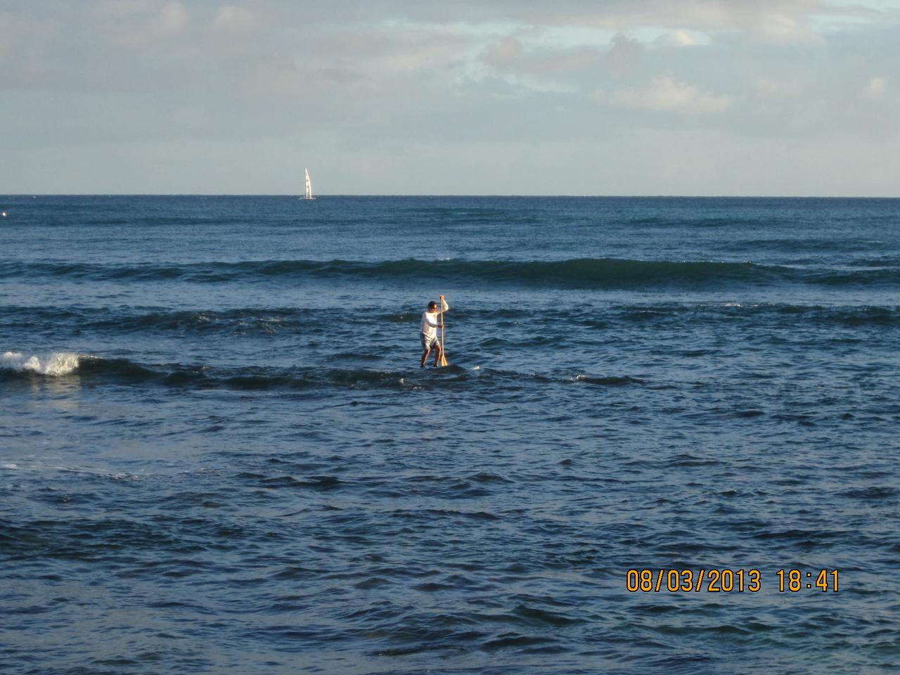 paddling on the ocean