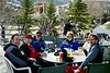 Mike F., Dave D., Dennis C., Pat C., Pam W. and John A. enjoying a break at Warm Springs Lodge